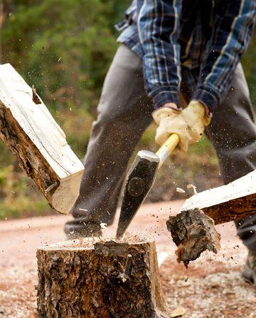 cięcie i rąbanie drewna